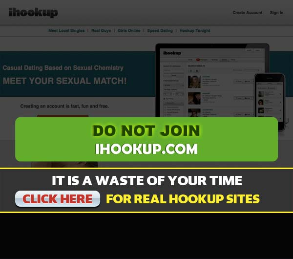 Screen Capture of the site iHookup.com