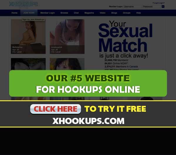Screen Capture of the site xHookups.com